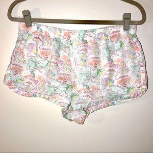 Victoria's Secret printed sleep shorts